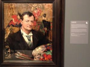 Portrait of Edward Atkinson Hornel - Bessie MacNicol